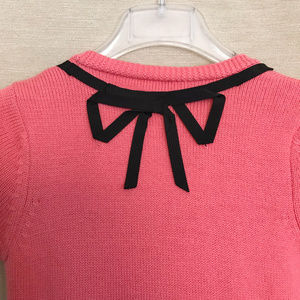 Milly of New York Sweaters - Milly Embellished Orange & Black Wool Sweater